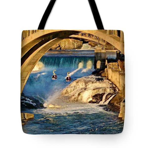 Spokane Monroe Street Bridge Tote Bag