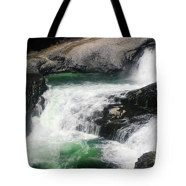 Spokane Water Fall Tote Bag