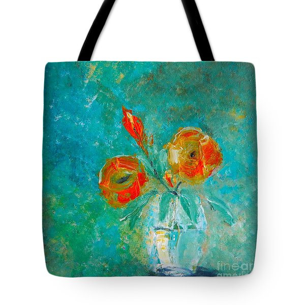 Palette Knife Floral Tote Bag