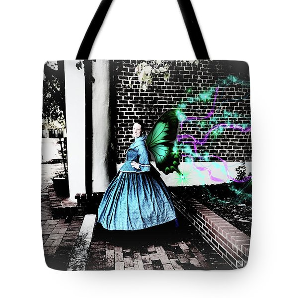Spooky Historic Butterfly Dahlonega  Tote Bag