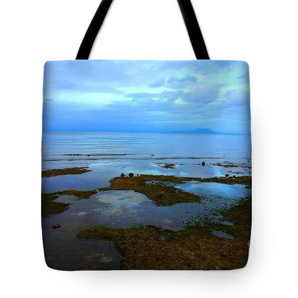 Spooky Morning Tide Receded From Beach Tote Bag