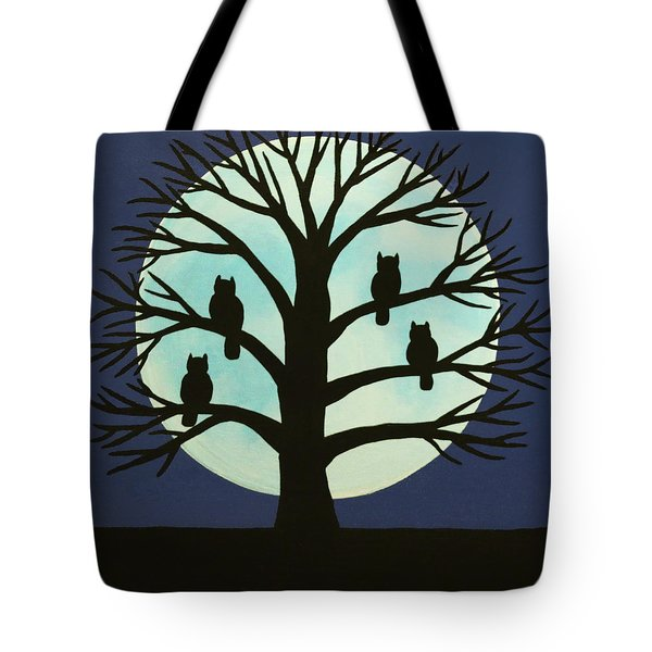 Spooky Owl Tree Tote Bag