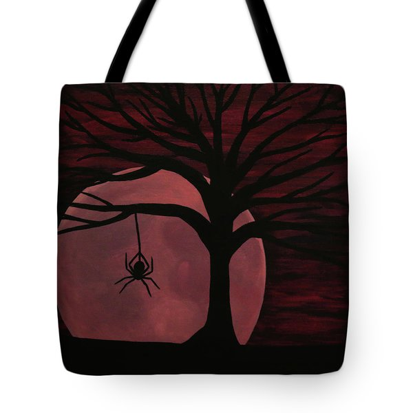 Spooky Spider Tree Tote Bag