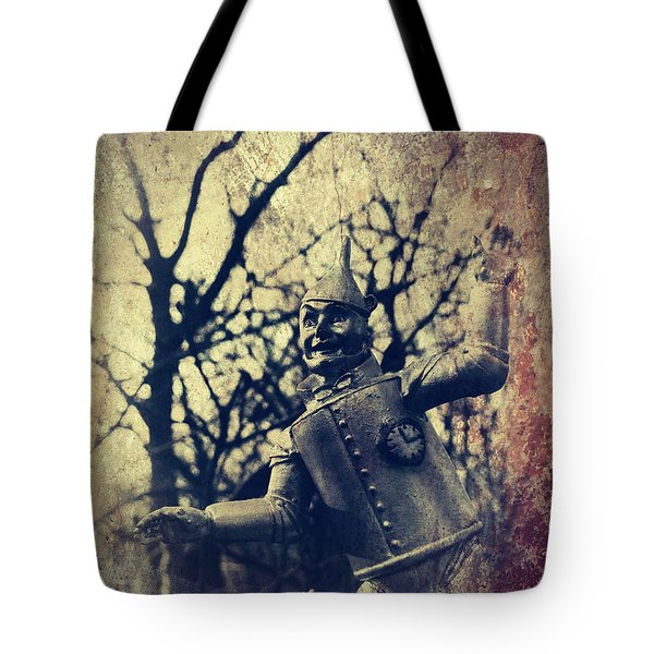 Spooky Tin Man Wizard Of Oz Tote Bag by Aurelio Zucco
