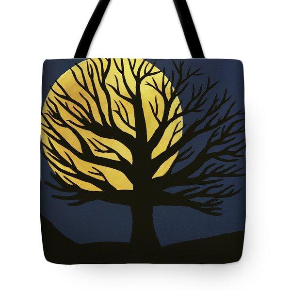 Spooky Tree Yellow Tote Bag