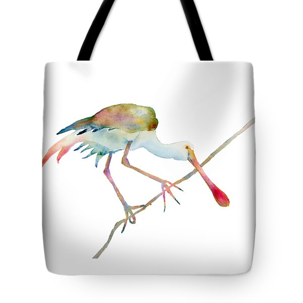 Spoonbill  Tote Bag by Amy Kirkpatrick