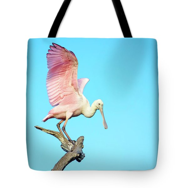 Spoonbill Flight Tote Bag