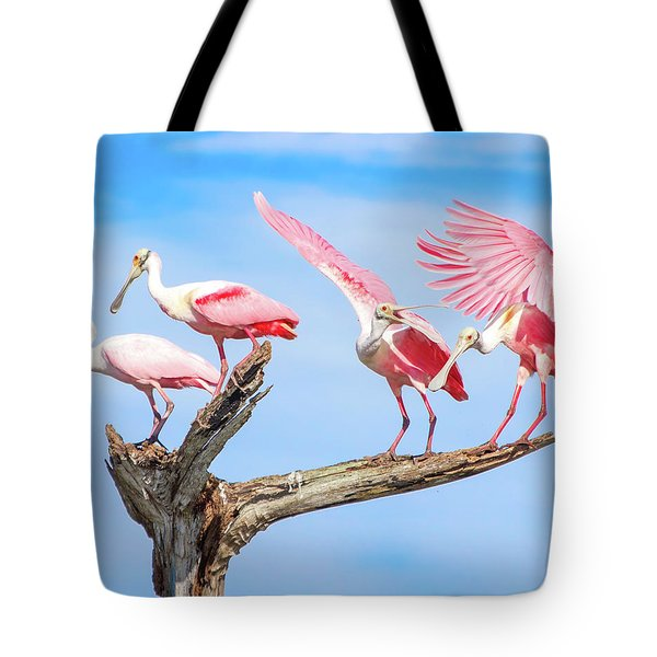 Spoonbill Party Tote Bag