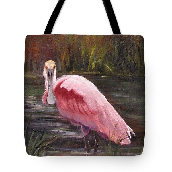 Spoonbill Roseate Bird Tote Bag