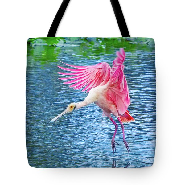 Spoonbill Splash Tote Bag