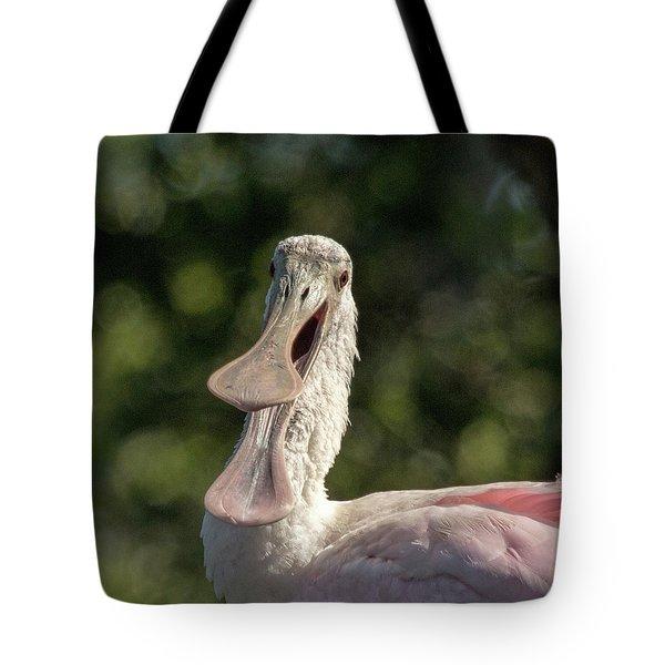 Spoonbill Talk Tote Bag