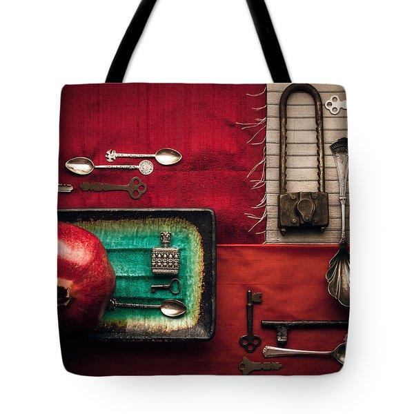 Spoons, Locks And Keys Tote Bag