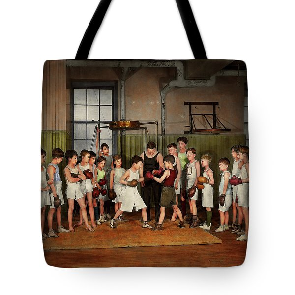Sport - Boxing - Fists Of Fury 1924 Tote Bag by Mike Savad