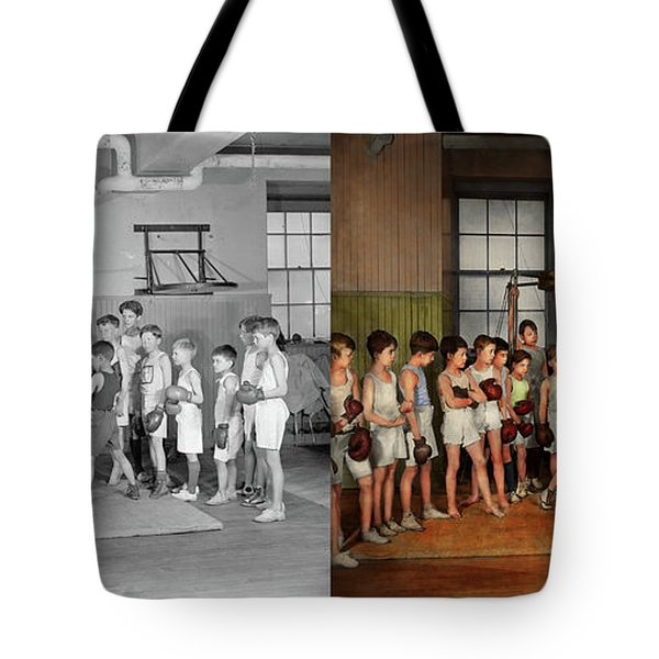 Sport - Boxing - Fists Of Fury 1924 - Side By Side Tote Bag by Mike Savad