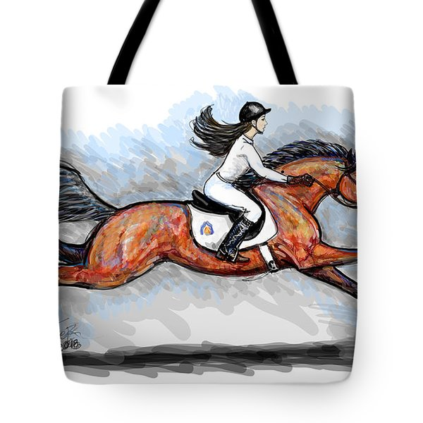 Sport Horse Rider Tote Bag