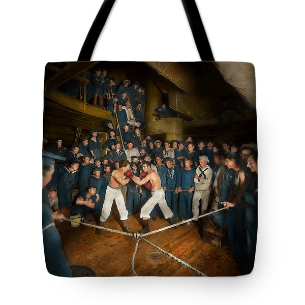 Sports - Boxing - The Second Round 1896 Tote Bag