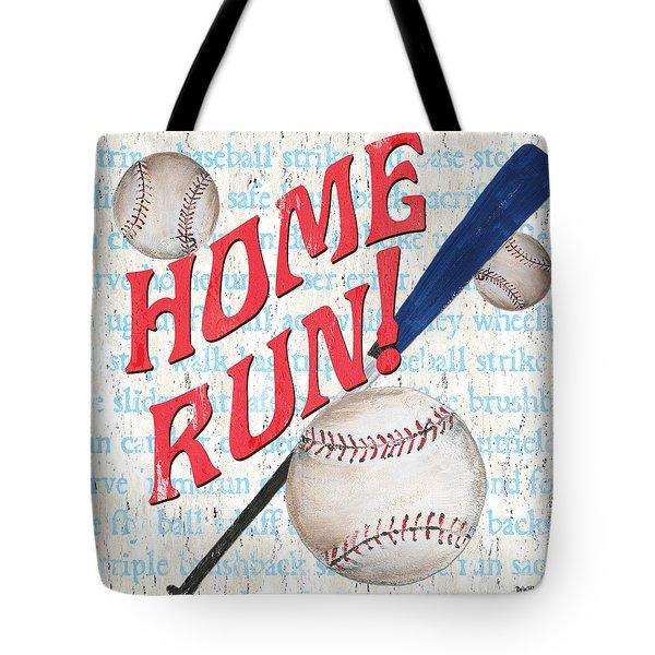Sports Fan Baseball Tote Bag