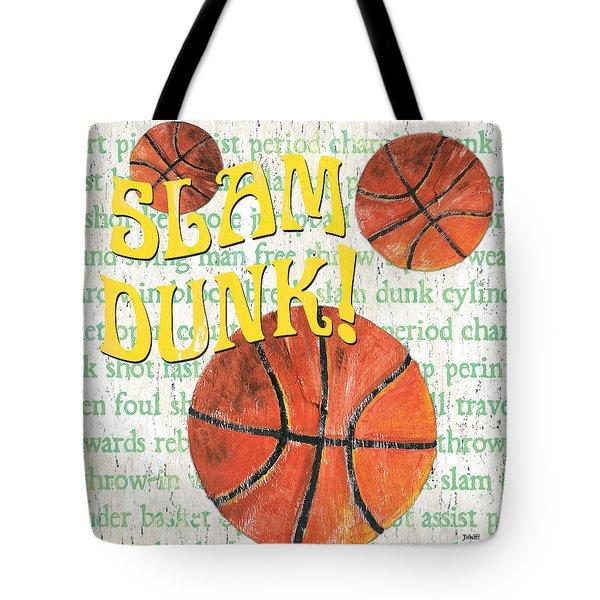 Sports Fan Basketball Tote Bag