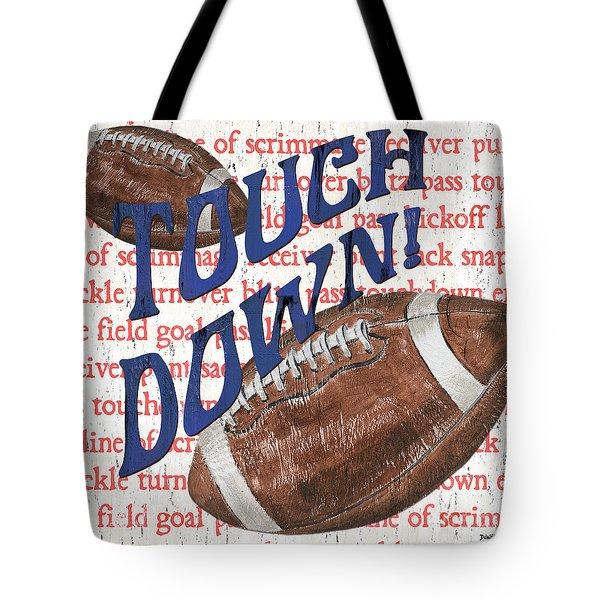 Sports Fan Football Tote Bag
