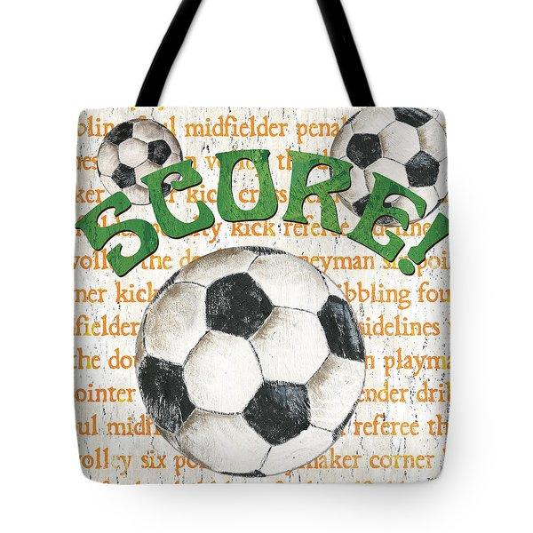 Sports Fan Soccer Tote Bag by Debbie DeWitt