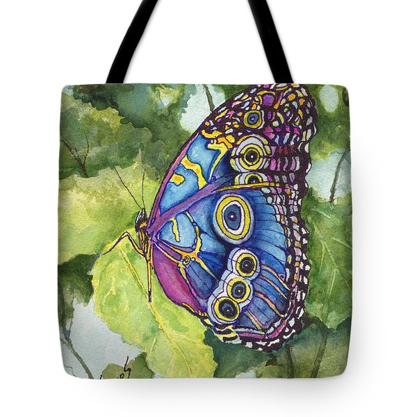 Tote Bag featuring the painting Spot by Sam Sidders