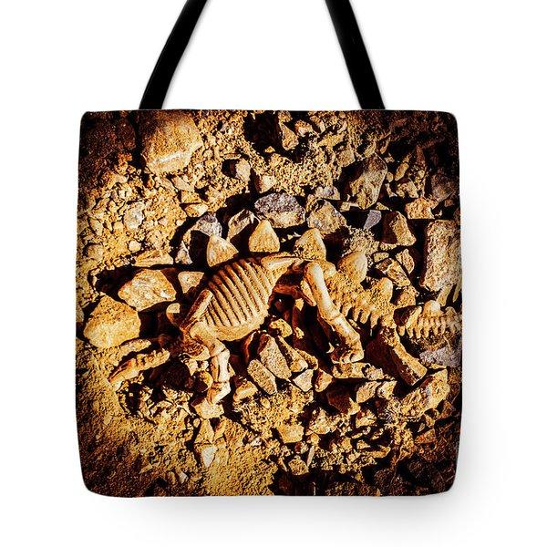 Spotlight On A Extinct Stegosaurus Tote Bag