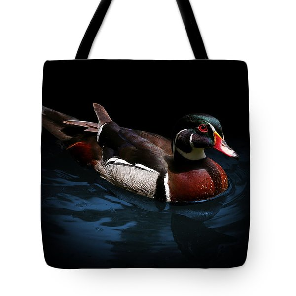 Spotlight On A Wood Duck Tote Bag