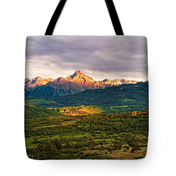 Spotlight On Mt. Sneffels Tote Bag