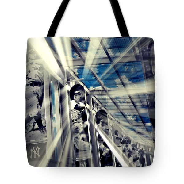 Spotlight On The Yankee Clipper II Tote Bag by Aurelio Zucco
