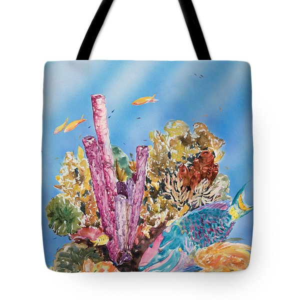 Spotlight Parrotfish Tote Bag by Tanya L Haynes - Printscapes