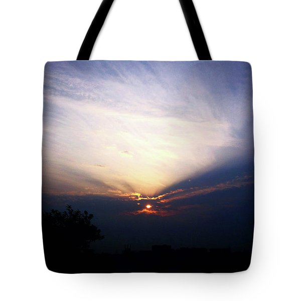 Spotlight Sunrise Tote Bag