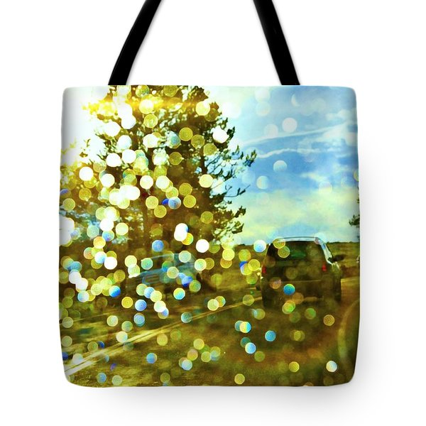 Spots Of Light Tote Bag