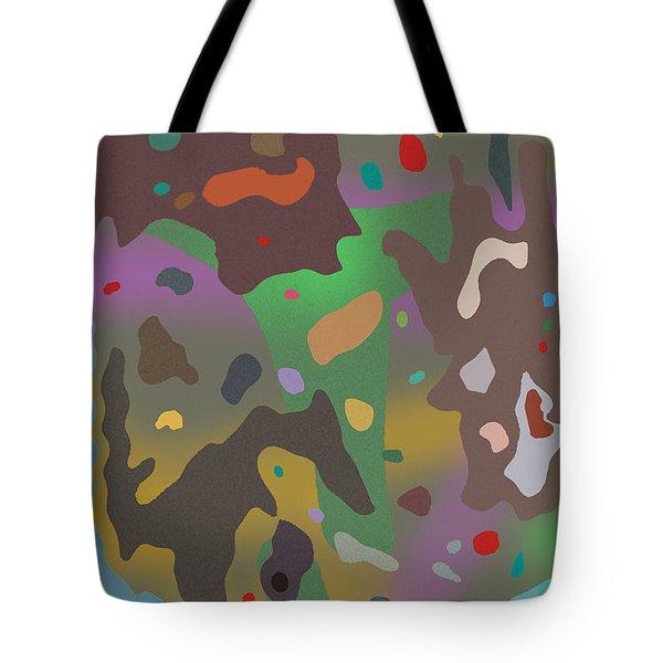 Tote Bag featuring the digital art Spotsville by David Klaboe