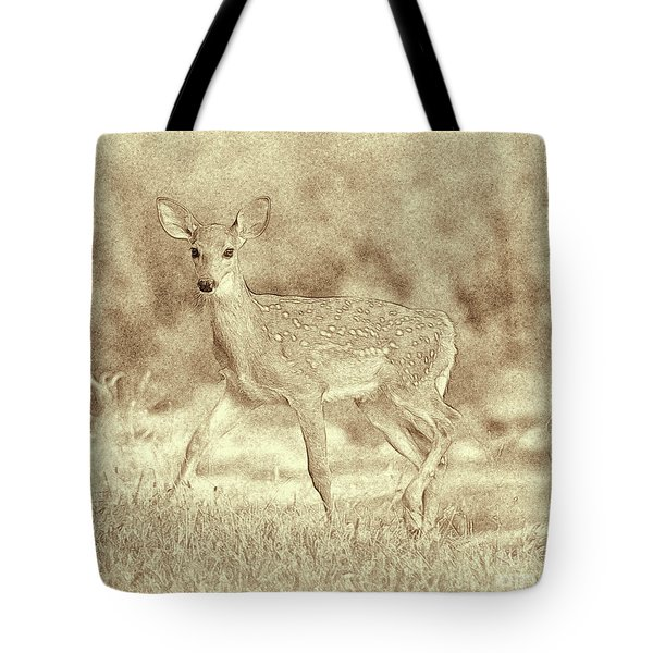 Spotted Fawn Tote Bag