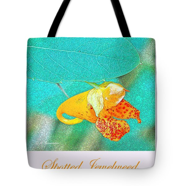 Tote Bag featuring the photograph Spotted Jewelweed Wildflower by A Gurmankin