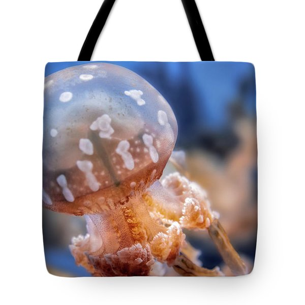 Tote Bag featuring the photograph Spotted Lagoon Jellyfish by Anthony Citro