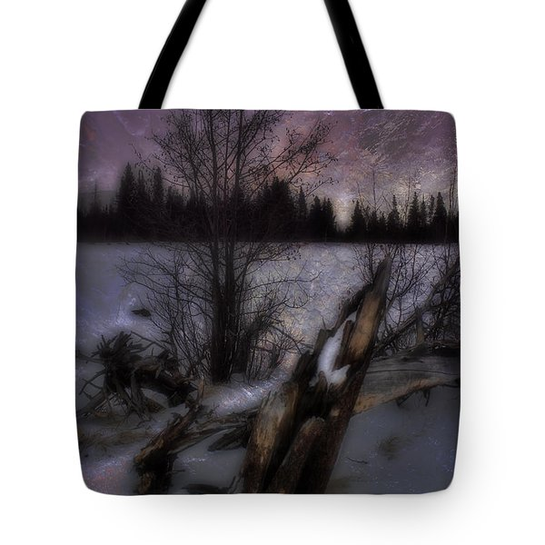 Tote Bag featuring the photograph Sprague Lake Winter Dream by Ellen Heaverlo