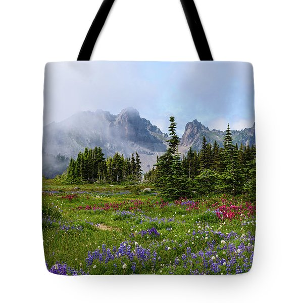 Spray Park In Mount Rainier Tote Bag