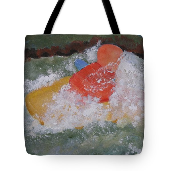 Tote Bag featuring the painting Spray by Sandy McIntire