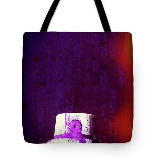 Tote Bag featuring the mixed media Sprayed by Karol Livote