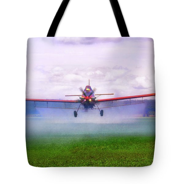 Spraying The Fields - Crop Duster - Aviation Tote Bag by Jason Politte