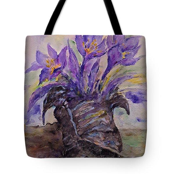 Spring In Van Gogh Shoes Tote Bag