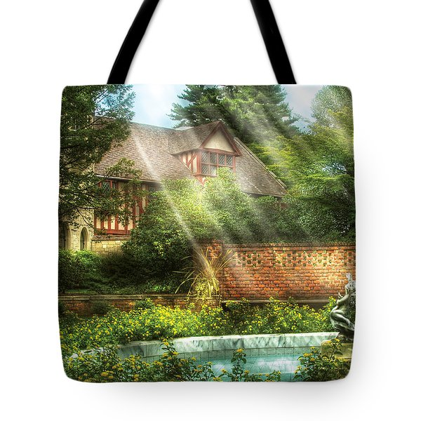 Spring - Garden - The Pool Of Hopes Tote Bag by Mike Savad