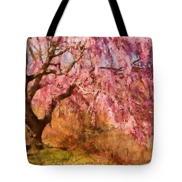 Spring - Sakura - A Beautiful Spring Day  Tote Bag by Mike Savad