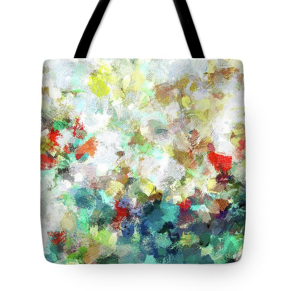 Tote Bag featuring the painting Spring Abstract Art / Vivid Colors by Ayse Deniz