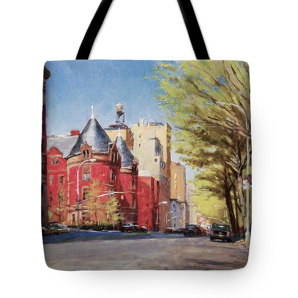 Spring Afternoon, Central Park West Tote Bag by Peter Salwen