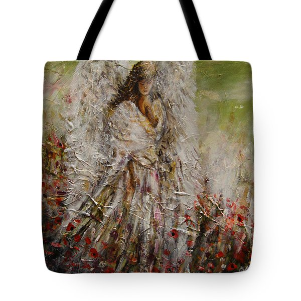 Spring Angel Tote Bag