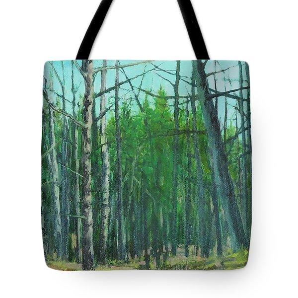 Spring Aspens Tote Bag
