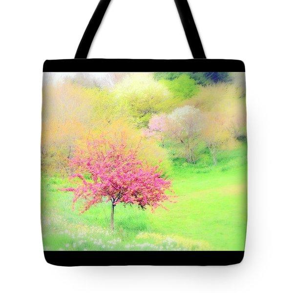 spring at Highland Park  Tote Bag