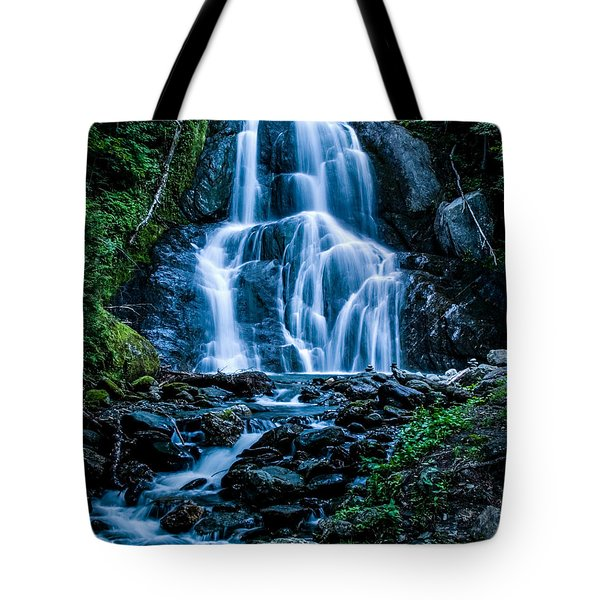 Tote Bag featuring the photograph Spring At Moss Glen Falls by Jeff Folger